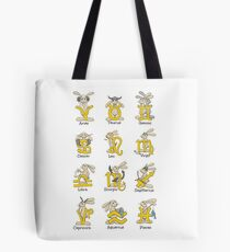 The Twelve signs of the Wabbit Zodiac Tote Bag