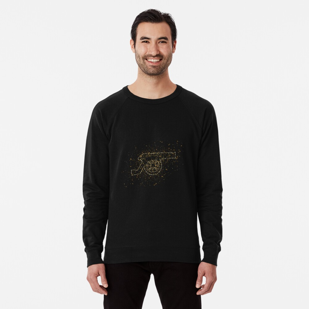 Cannon weapon history golden ornament Gold Leichter Pullover