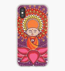 Jizo Meditating upon a Ruby Lotus iPhone Case