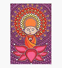 Jizo Meditating upon a Ruby Lotus Photographic Print