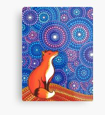 Star Gazing Fox Metal Print