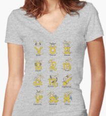The Twelve signs of the Wabbit Zodiac Fitted V-Neck T-Shirt