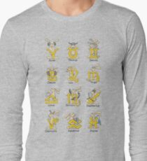 The Twelve signs of the Wabbit Zodiac Long Sleeve T-Shirt