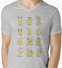 The Twelve signs of the Wabbit Zodiac V-Neck T-Shirt