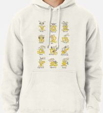 The Twelve signs of the Wabbit Zodiac Pullover Hoodie