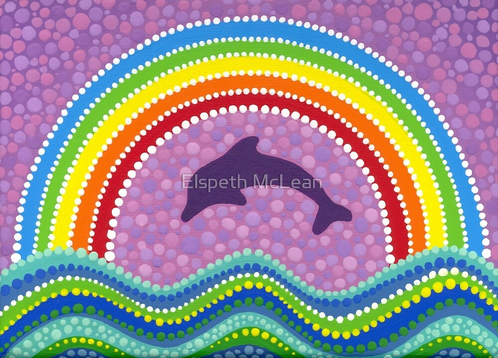 Dolphin rainbow energy von Elspeth McLean