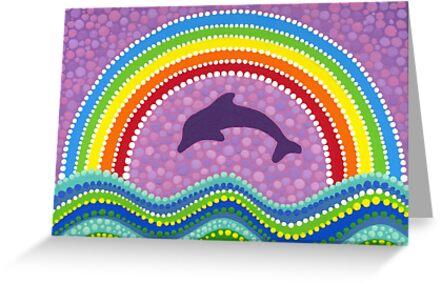 Dolphin rainbow energy by Elspeth McLean