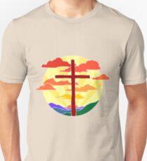 Christian Cross Sunrise Unisex T-Shirt