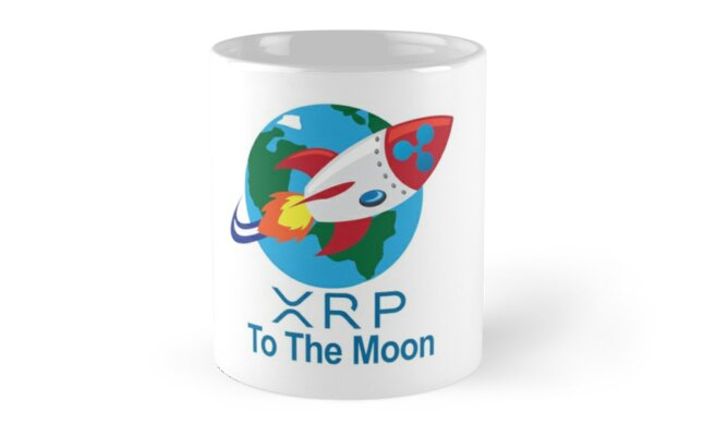 Ripple XRP Rocket Spaceship CryptoCurrency Classic Mugs