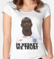 In HESKEY we trust - ENGLAND FOOTBALL Women's Fitted Scoop T-Shirt