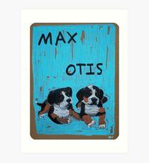 Max and Otis Art Print