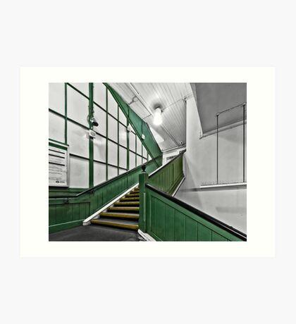 Putney Bridge Tube Station Art Print