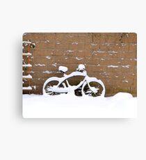 snowbike Canvas Print