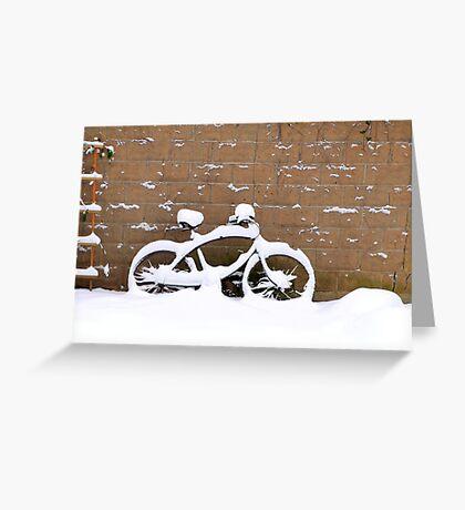 snowbike Greeting Card