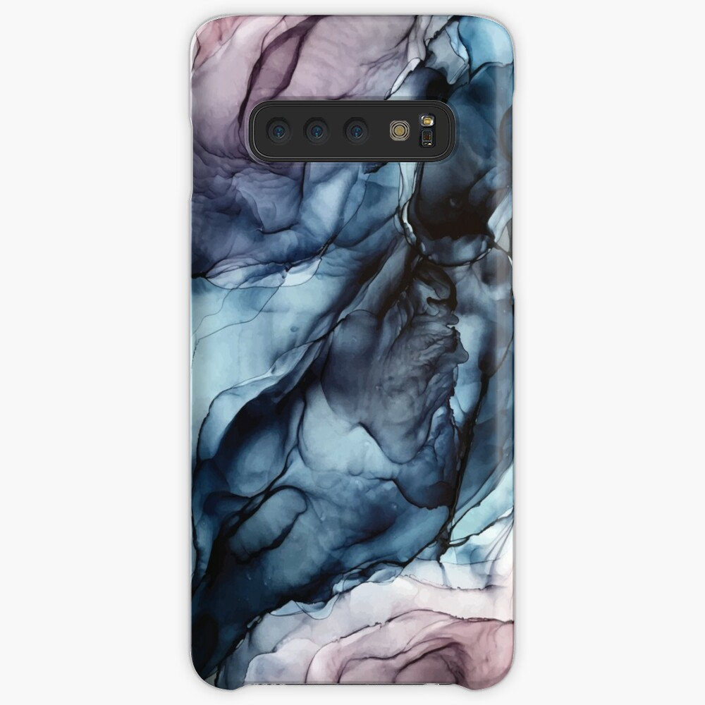 Blush and Darkness Abstract Alcohol Ink Painting Cases & Skins for Samsung Galaxy