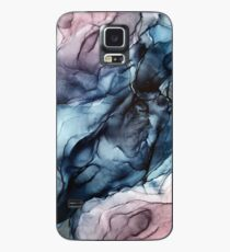 Blush and Darkness Abstract Alcohol Ink Painting Case/Skin for Samsung Galaxy