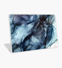 Blush and Darkness Abstract Alcohol Ink Painting Laptop Skin