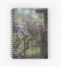Morning Mist and Wisteria Spiral Notebook