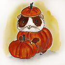 Pumpkin Guinea pig cavy! Fall, Thanksgiving, Halloween by Edgot Emily Dimov-Gottshall