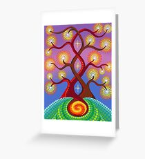 masculine feminine unity Greeting Card