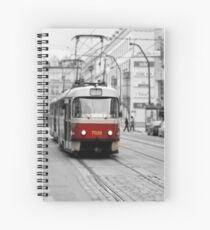 Prague Tram Spiral Notebook