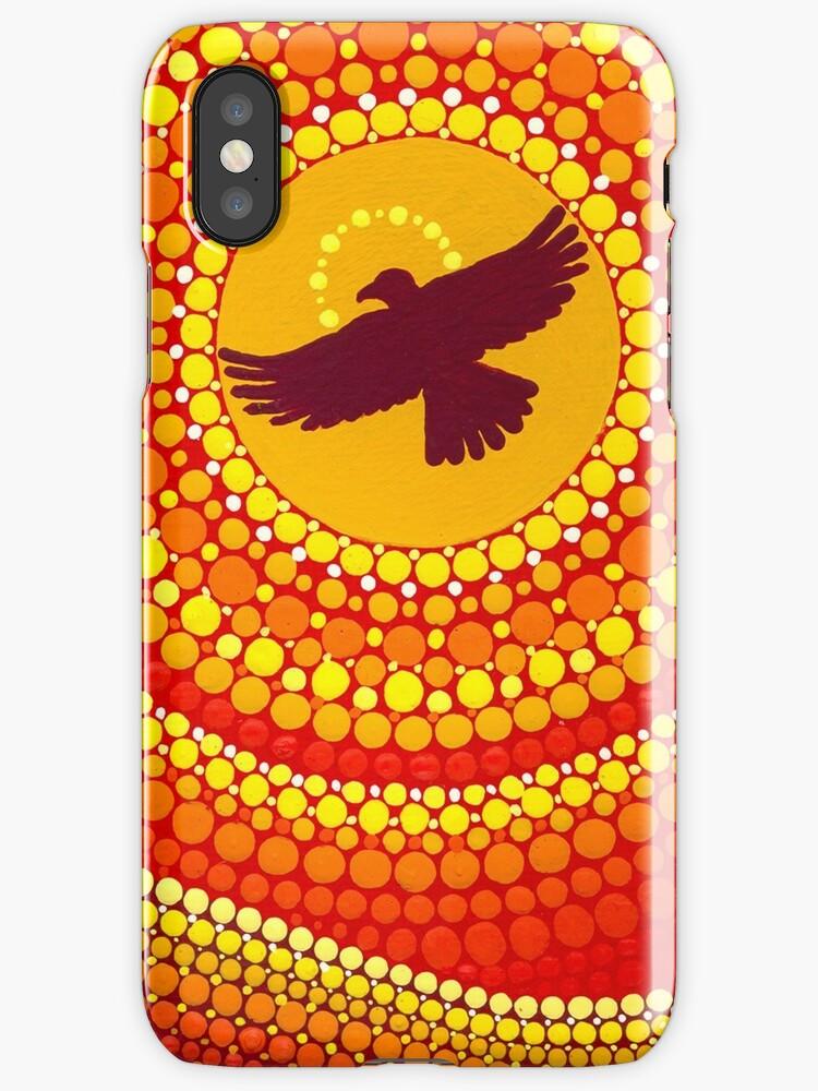 sun illuminating eagle spirit medicine by Elspeth McLean