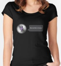 Apple Siri Voice Funny  Women's Fitted Scoop T-Shirt