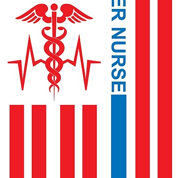 ER Nurse with Flag by EJTees