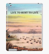 Live To Hunt To Live iPad Case/Skin