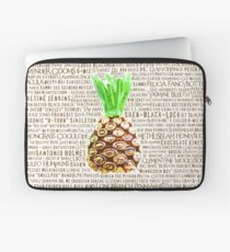 Psych Burton Guster Nicknames - Television Show Pineapple Room Decorative TV Pop Culture Humor Lime Neon Brown Laptop Sleeve