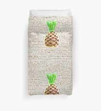 Psych Burton Guster Nicknames - Television Show Pineapple Room Decorative TV Pop Culture Humor Lime Neon Brown Duvet Cover