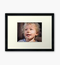 Look at those curls Framed Print