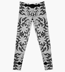 #Crochet #Antique #vintage #weaving #lace #patterns #pattern #decoration #ornate #abstract #art #textile #flower #vector #repetition #illustration #design #vertical #gray #blackandwhite #monochrome Leggings
