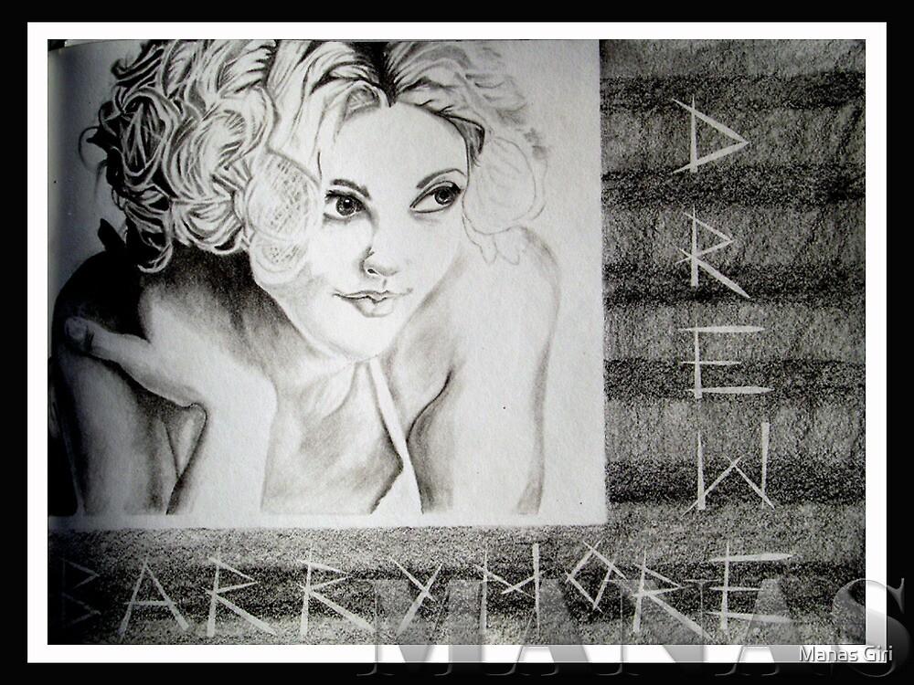 Drew Barrymore by Manas Giri