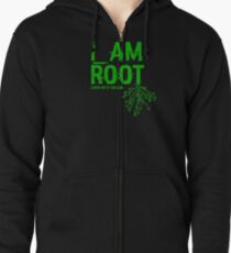 I AM ROOT Zipped Hoodie