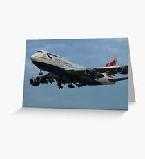 British Airways at LAX Greeting Card