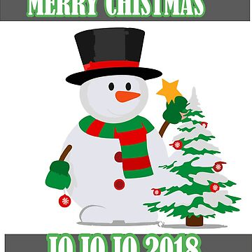merry christmas with snowman shirt by wicala