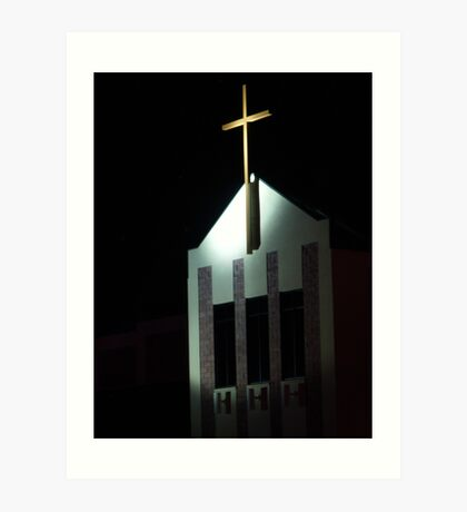 Turning Point Church at Christmas Art Print