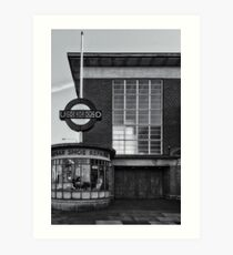 Rayners Lane Tube Station Art Print