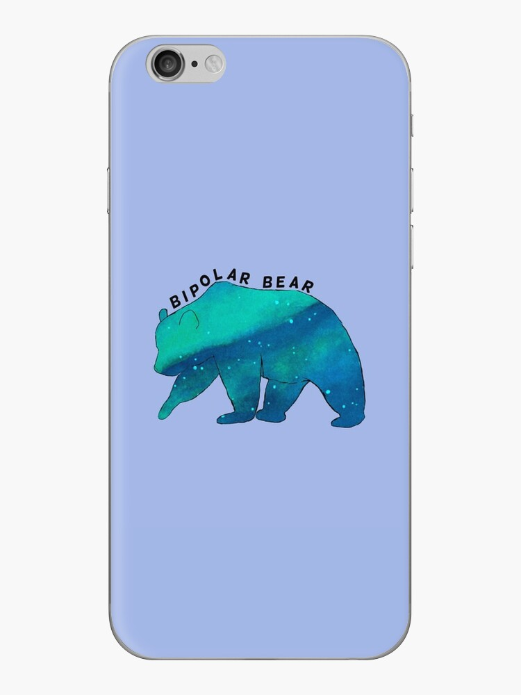 'Bipolar Bear' iPhone Case by James Lazarus