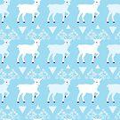 Blue deer holiday by oksancia