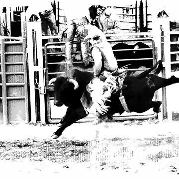 Rodeo Bull Rider by NaturePrints