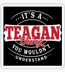 It's a TEAGAN Thing You Wouldn't Understand T-Shirt & Merchandise Sticker