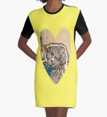 Cat Graphic T-Shirt Dress