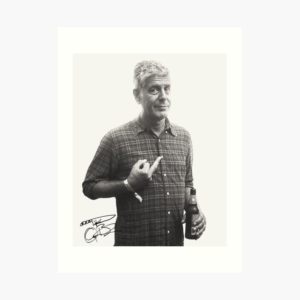 Bourdain Cool Kunstdruck