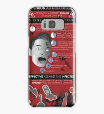 Zombie Infographic  Samsung Galaxy Case/Skin