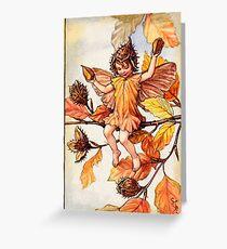 Cicely Barker, Flower and Alphabet Fairies, Christmas Fairy! Greeting Card
