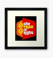 the price is right show Framed Print