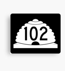 Utah State Route SR-102 | United States Highway Shield Sign Canvas Print
