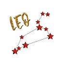 Leo (LEO) Star Astrology Sign - gold, ruby ​​style by fritzlang